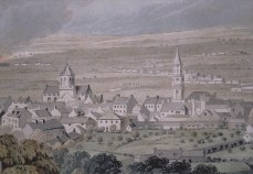 Drawing of Falkirk from the south (1824)