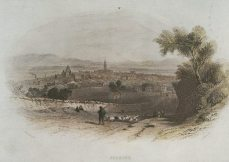 Falkirk from the south (1840)