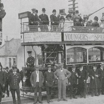 First tram to Laurieston