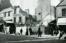 High Street demolition of the Railway Hotel
