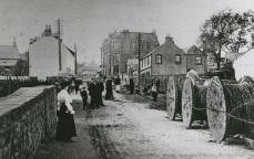 Laying electric cables, Main St (c1910)
