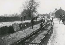 laying the tramways near Carron Works