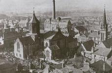 Old Parish Church, Brewery etc. viewed from the air (c1940)