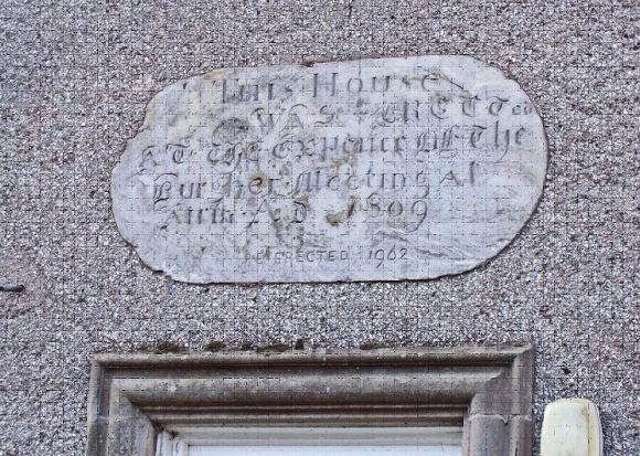 Plaque re-erected 1962