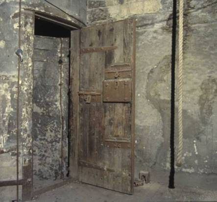 Steeple cell door