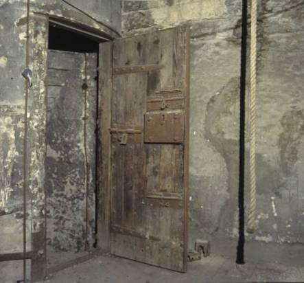 Steeple cell door