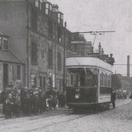 Tram at Camelon Bridge