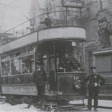 Tram in Newmarket Street
