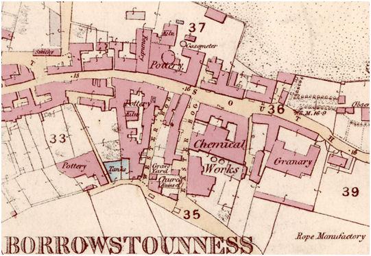 Map of Borrowstounness