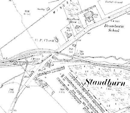 Standburn map