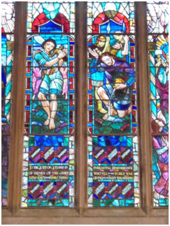 Zetland Church bottom detail