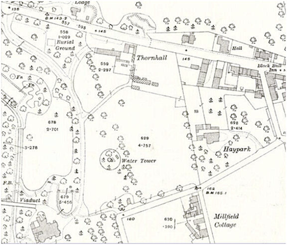OS Map showing private burial ground