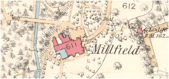 OS Map Millfield House