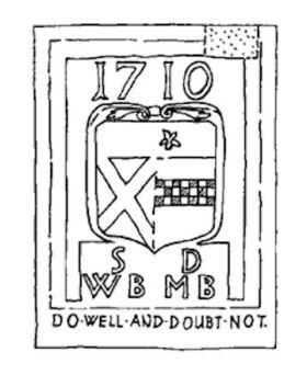 Drawing of 1710 Coat of Arms