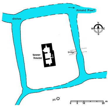 Plan of Kerse Tower House